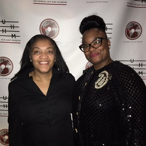 Writer, Judith Davis and Rapper Roxane Shante at the Hip Hop Museum fundraising event. in Brooklyn.