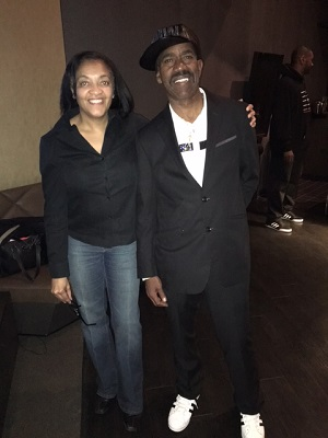 Writer, Judith Davis and Legendary Rapper Kurtis Blow at the Hip Mop Museum Fundraising event in Brooklyn.