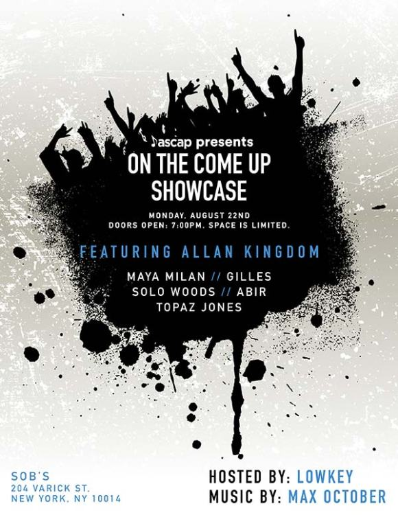 "ASCAP ""On The Come Up"" event at SOB's in NYC."